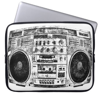 Boombox graffiti laptop sleeve