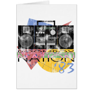 Boombox Nation 83 Greeting Card