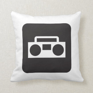 Boombox Radio Vintage 80's Throw Pillow Decor