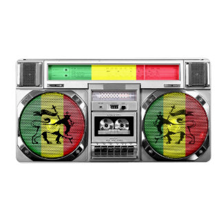 boombox reggae shipping label