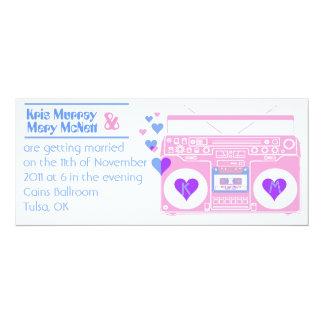 Boombox Retro 10 Cm X 24 Cm Invitation Card