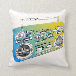 Boombox retro artsy throw pillow