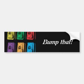 Boomboxes Car Bumper Sticker
