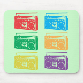 Boomboxes Mouse Pad