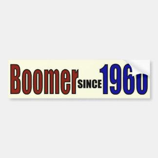 BOOMER 1960 CAR BUMPER STICKER