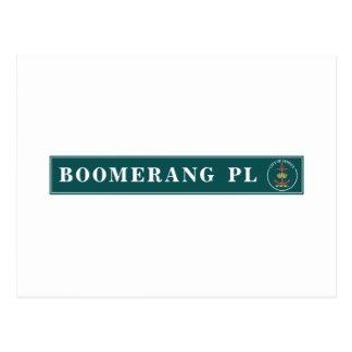 Boomerang Place, Sidney, Australian Street Sign Postcard