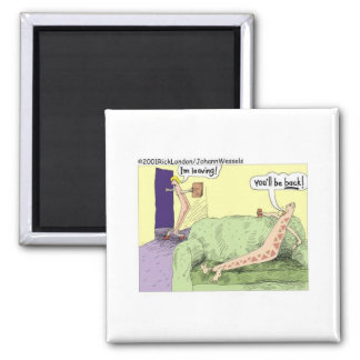Boomerang Relagionships Funny Cartoon Gifts & Tees Square Magnet