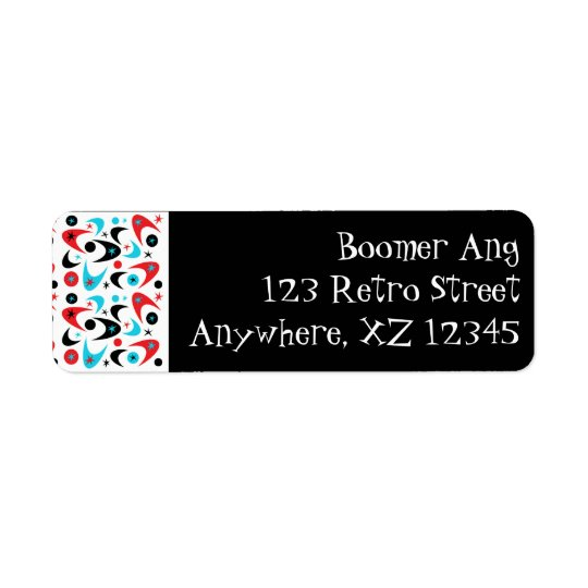 Boomerang Return Address Label