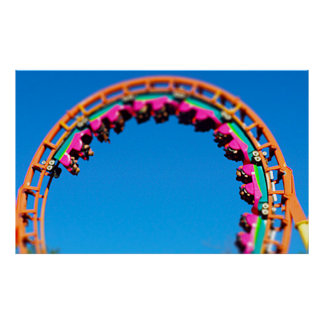 Boomerang Roller Coaster Worlds of Fun, KC Poster