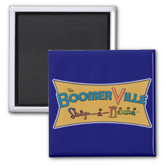 Boomerville Shop-a-Rama Logo Gear Square Magnet