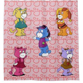Boomi Cats Shower Curtain