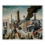 Boomtown by Thomas Hart Benton 1928 Posters