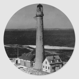 Boon Island Lighthouse Round Sticker