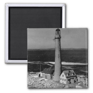 Boon Island Lighthouse Square Magnet