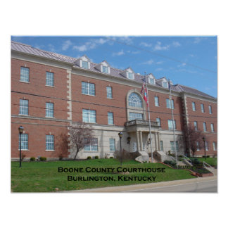 Boone County Courthouse Poster