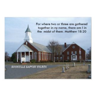 BOONVILLE BAPTIST CHURCH-INVITATION 13 CM X 18 CM INVITATION CARD