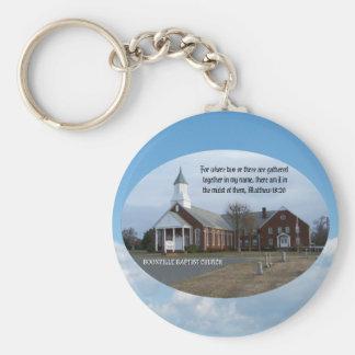 BOONVILLE BAPTIST CHURCH-KEYCHAIN BASIC ROUND BUTTON KEY RING