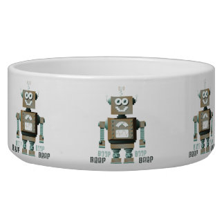 Boop Beep Toy Robot Pet Bowl