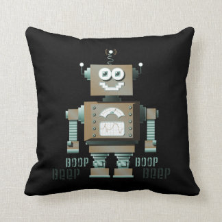 Boop Beep Toy Robot Pillow (inverse)