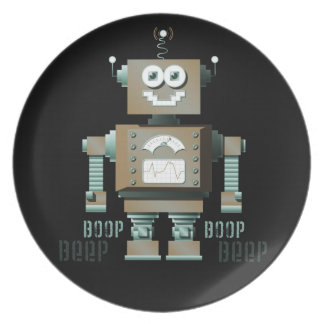 Boop Beep Toy Robot Plate (dk)