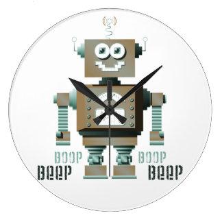 Boop Beep Toy Robot Wall Clock (lt)