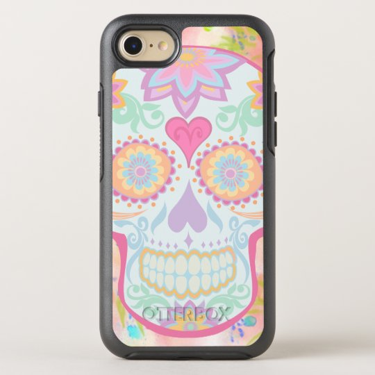 BooPooBeeDoo floral sugar skull OtterBox Symmetry iPhone 8/7