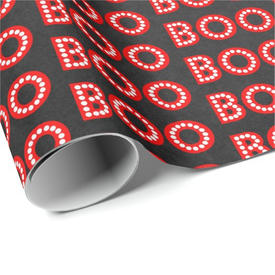 Boos & Booze Boo On Halloween Party Wrapping Paper