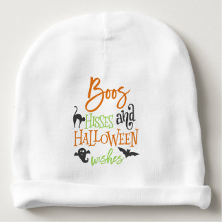 Boos Hisses and Halloween Wishes Baby Beanie
