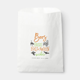 Boos Hisses and Halloween Wishes Favour Bags