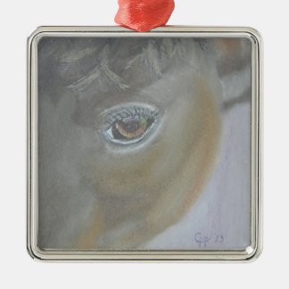 Boost My Ego - Horse Painting Christmas Ornament