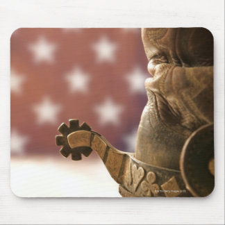 Boot and spur mouse mat