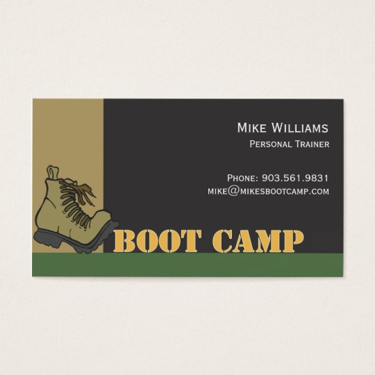 Boot Camp - black Business Card