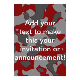 Boot Camp Camo 5x7 Paper Invitation Card