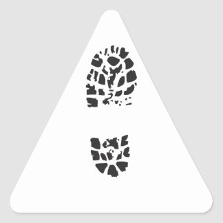 BOOT PRINT TRIANGLE STICKERS