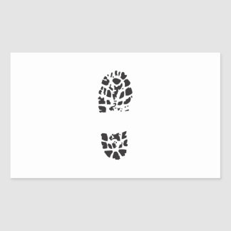 BOOT PRINT RECTANGLE STICKERS