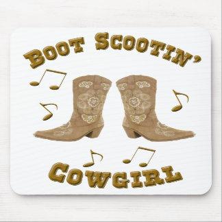 """Boot Scootin' Cowgirl"" Western Mousepad"