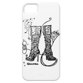 Boot Swirl White iPhone5 Case iPhone 5 Cover