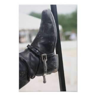 boot with spur poster