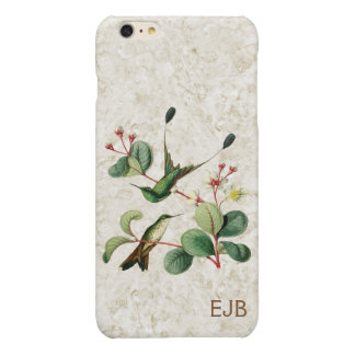 Booted Racket Tail Hummingbird Monogram iPhone 6 Plus Case