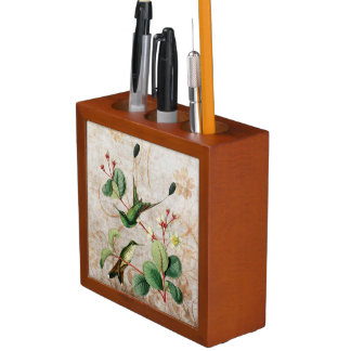 Booted Racket Tail Hummingbirds Desk Organizer