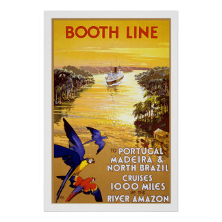 """ Booth Line"" Vintage Travel Poster"