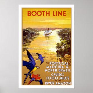 """ Booth Line"" Vintage Travel Poster"