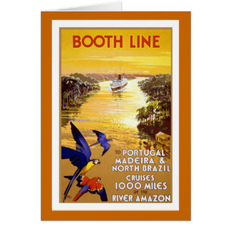 """"""" Booth Line"""" Vintage Travel Poster Greeting Card"""
