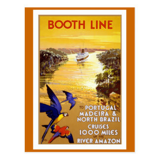 """ Booth Line"" Vintage Travel Poster Postcard"