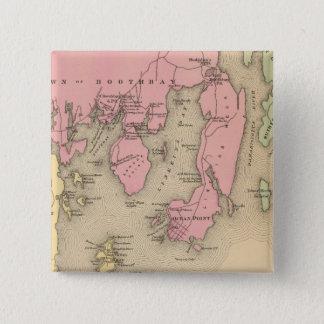 Boothbay, adjacent islands 15 cm square badge