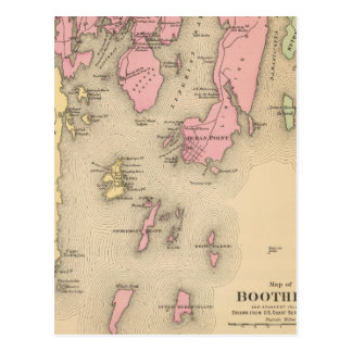 Boothbay, adjacent islands postcard