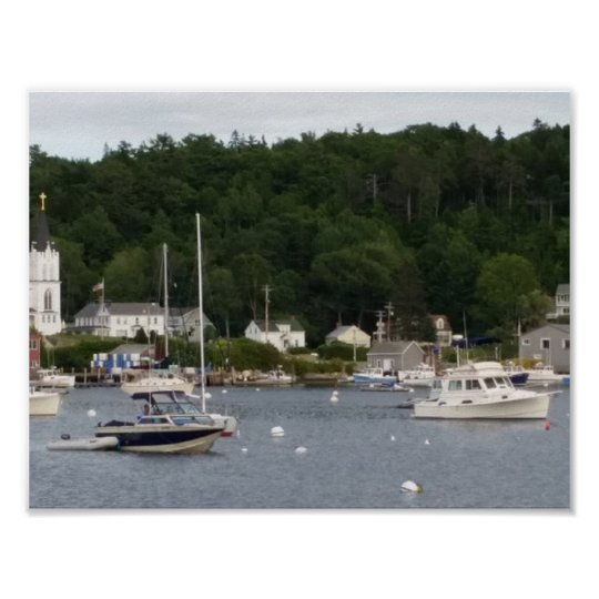 "Boothbay Harbour 11"" x 8.5"" Poster Paper (Matte)"