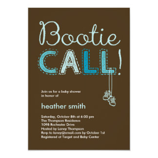 Bootie Call Baby Shower Invitation - Blue