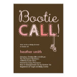 Bootie Call Baby Shower Invitation - Pink 13 Cm X 18 Cm Invitation Card