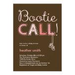 Bootie Call Baby Shower Invitation - Pink 13 Cm X 18 Cm Invitation Card
